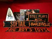 Harley Davidson Lot of 8 Metal / Tin Signs - Perfect for the Man Cave